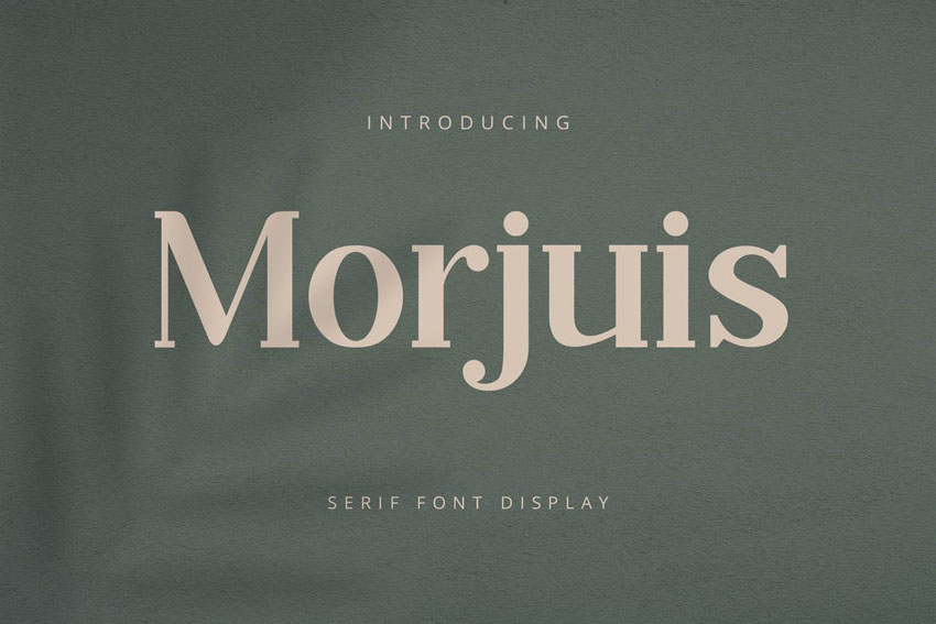 Morjuis Clean Modern Fonts