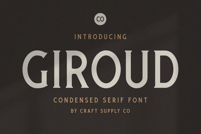 Giroud Modern Block Font Serif