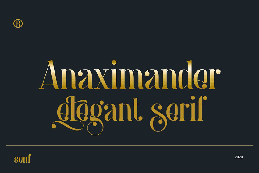 Modern Elegant Fonts Anaximander Serif