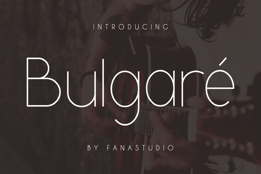 Bulgare Modern Minimalist Font