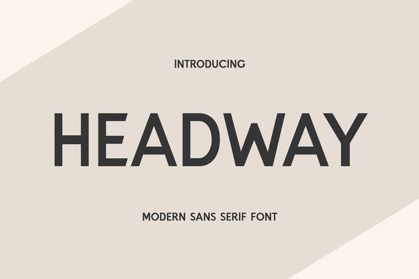 Headway Clean Modern Fonts