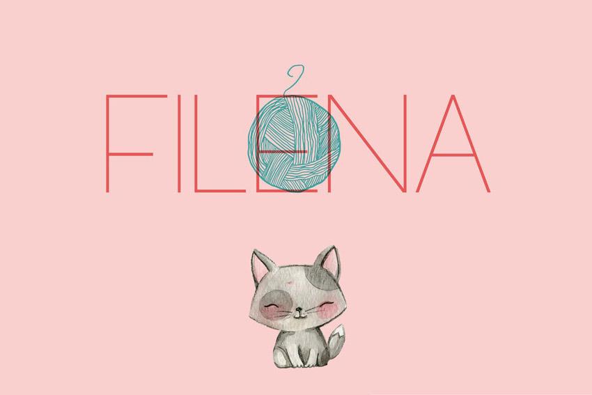 Filena Thin Modern Fonts