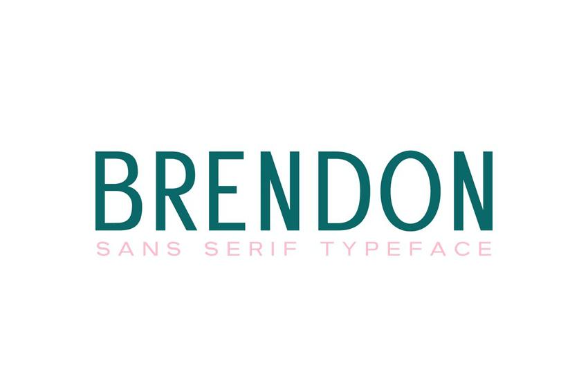 Brendon Clean Modern Fonts Serif