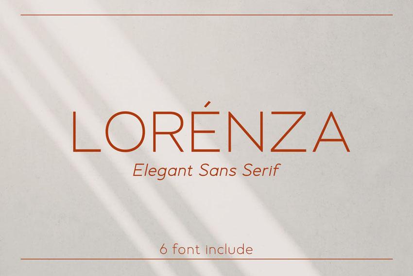Lorenza Modern Font Styles