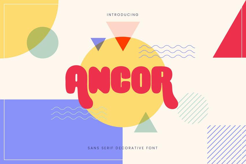 Ancor Modern Bold Fonts