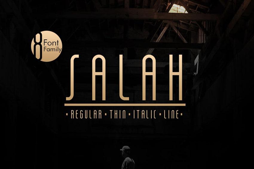 Salah Sans Serif Clean Modern Fonts Family