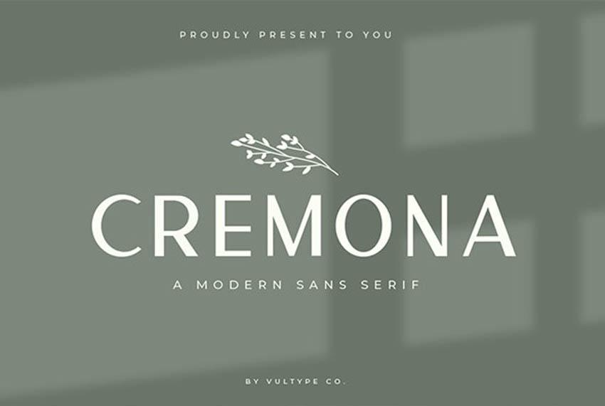 Cremona Modern Sans Serif