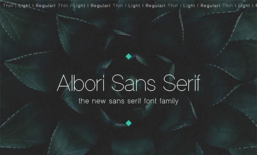Albori Sans Serif Thin Modern Fonts