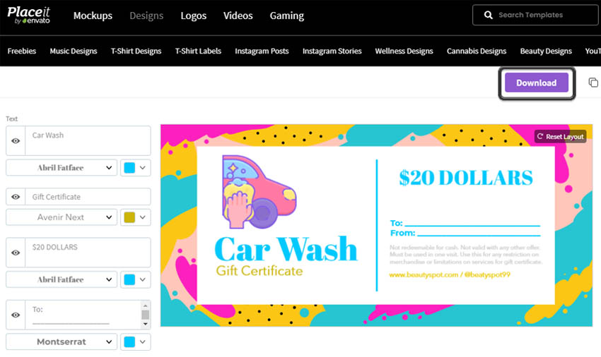 how to make a gift certificate