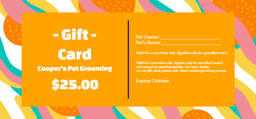 Colorful Customizable Gift Certificate Template