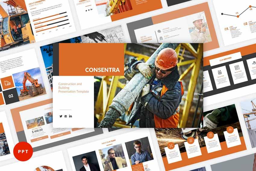 construction powerpoint presentation template