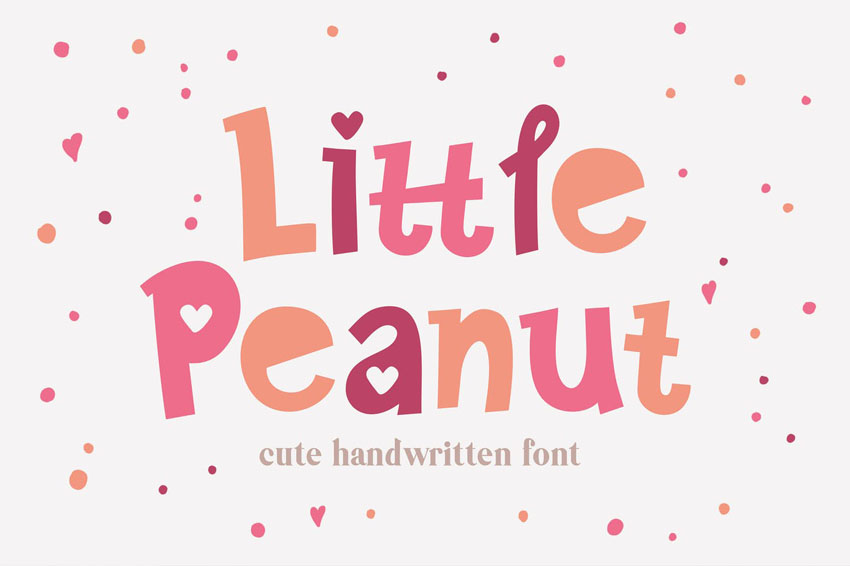 Little Peanut Cute Kids Cricut Font