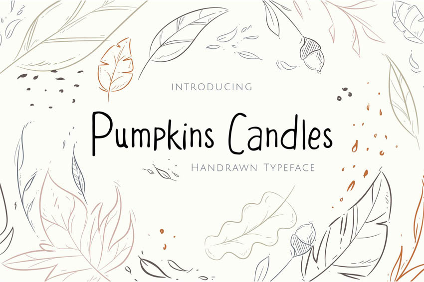 Pumpkins Candles Cricut Handwriting Fonts