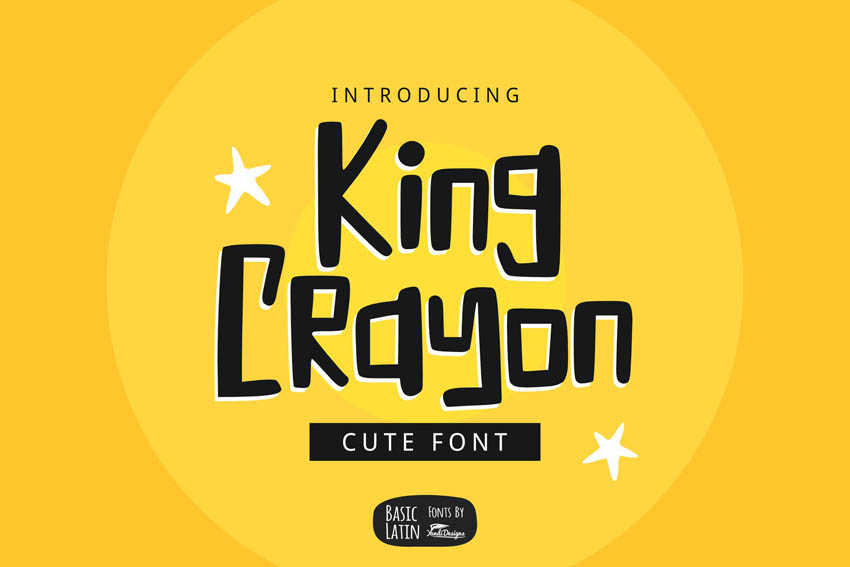 King Crayon Cricut Font Cute