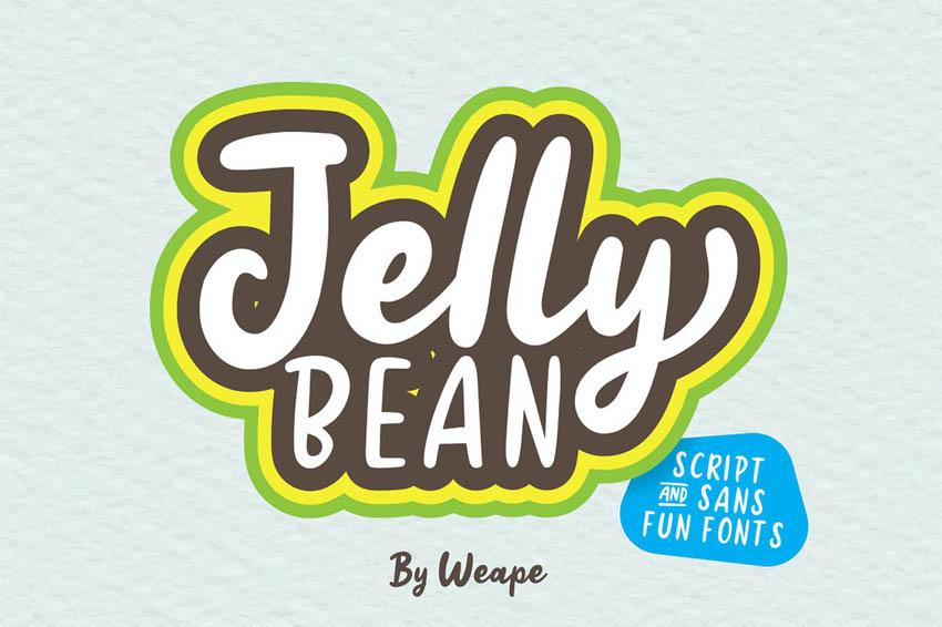 Jelly Bean Cricut Script Font