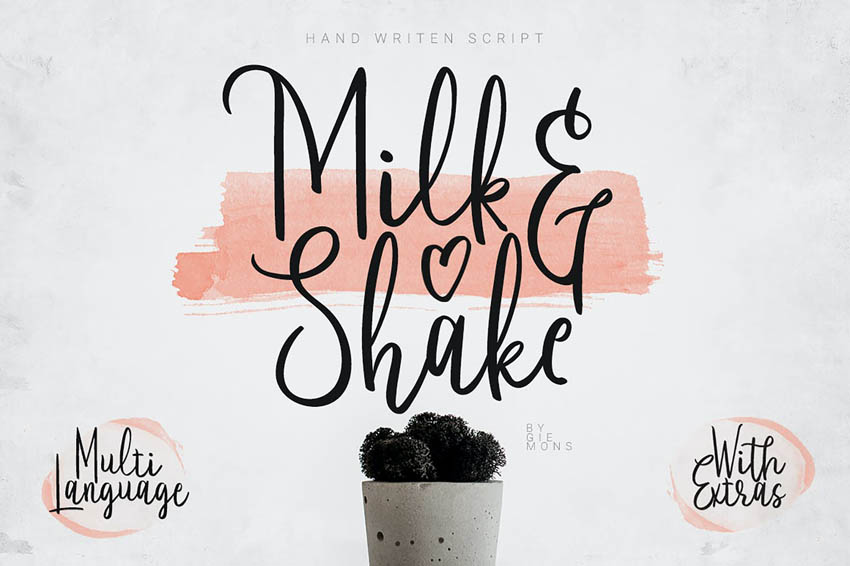 Milk  Shake Cricut Handwriting Fonts