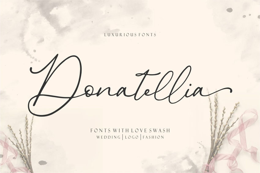 Donatellia Elegant Cricut Handwriting Fonts