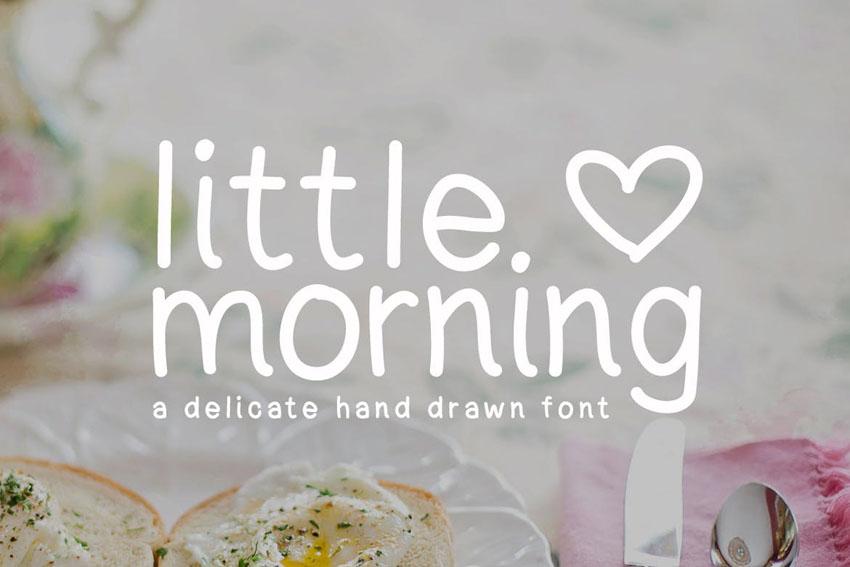 Little Morning Cricut Lettering Fonts