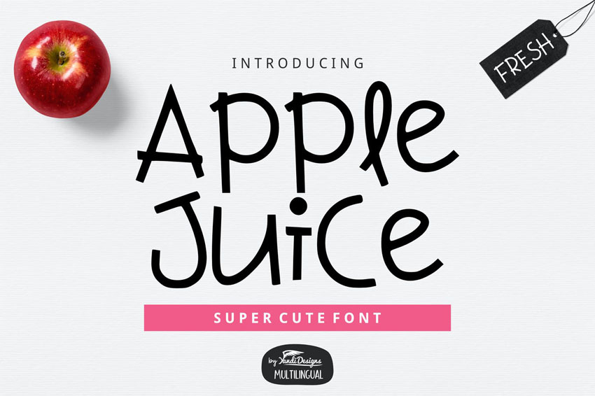 Apple Juice Cute Cricut Font