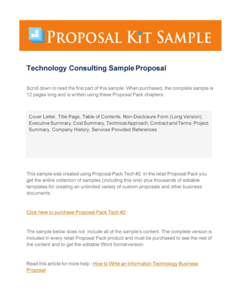 Consulting Simple Business Proposal Sample Designs