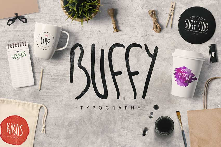 My Name is Buffy Display Font