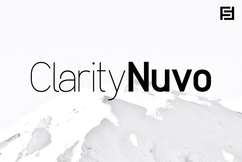Clarity Nuvo - Clean  Modern Sans-Serif Typeface