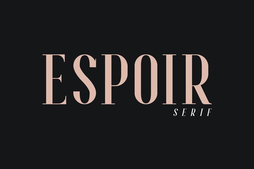 Espoir Serif Font Family Inspired by Bodoni Font