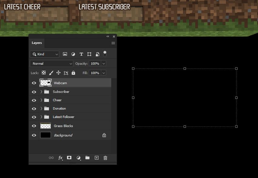 minecraft webcam overlay