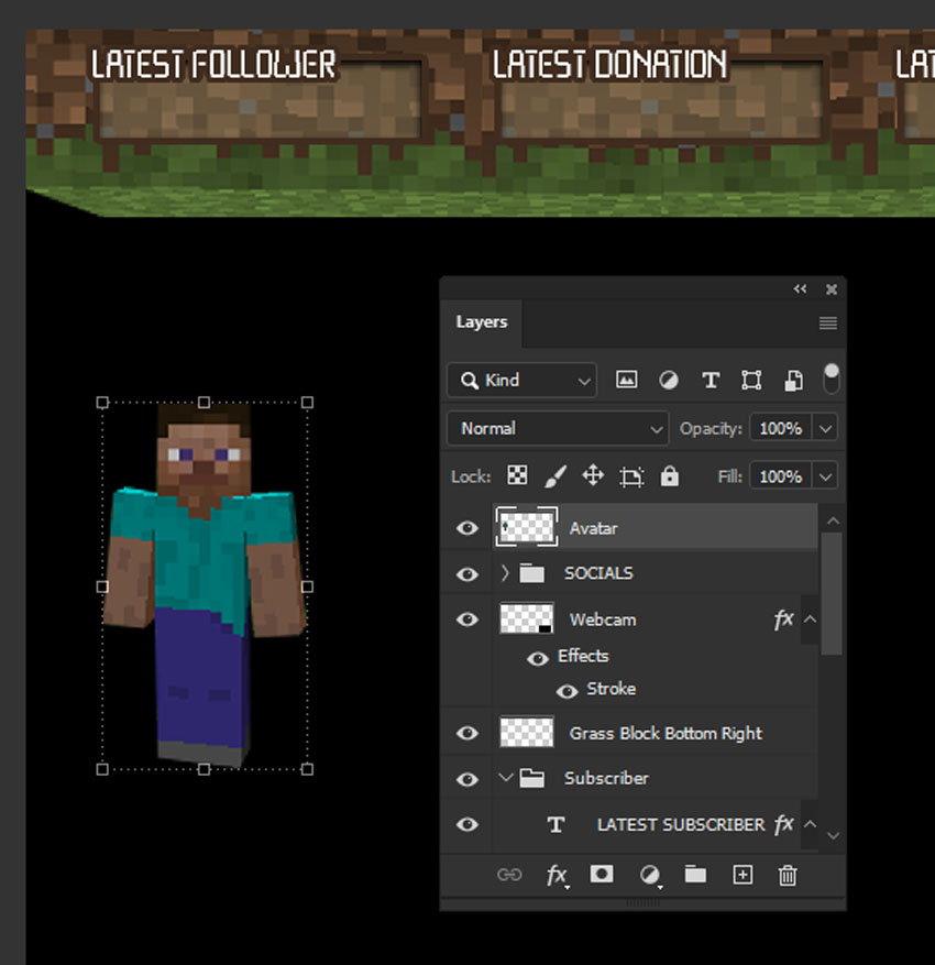 twitch overlay for minecraft