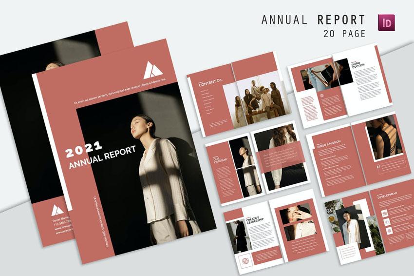 stylish annual report design