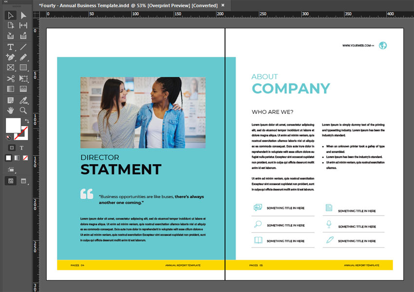 layout design annual report