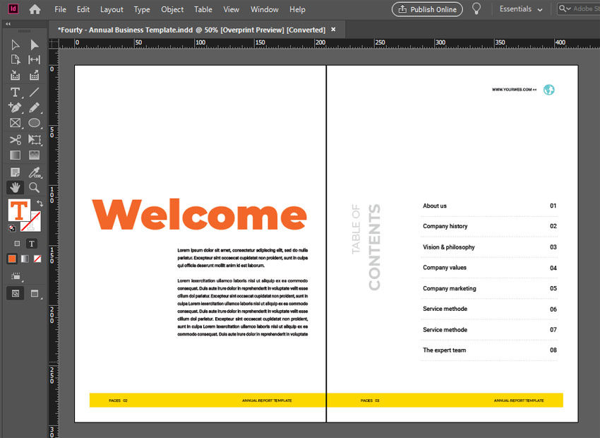 annual report layout design ideas