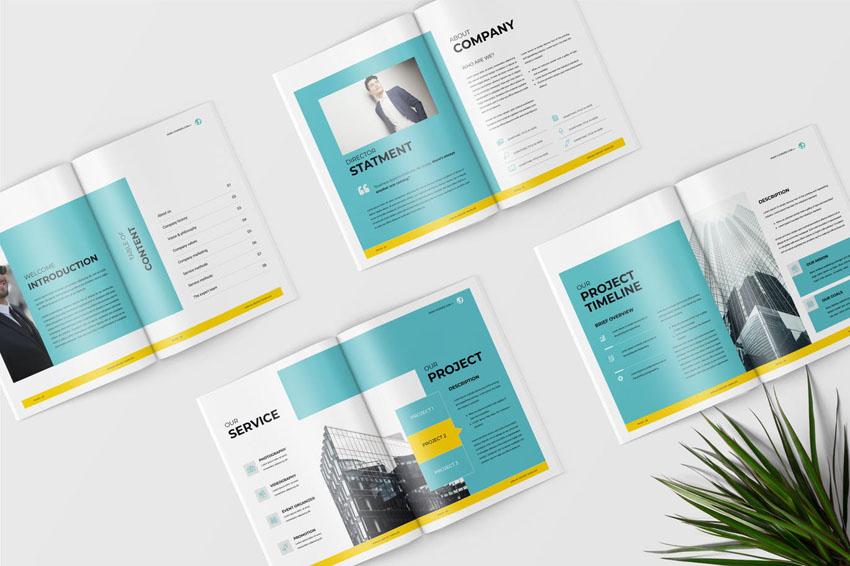 stylish annual report layout design