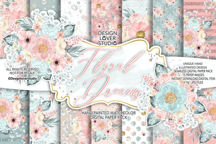 floral digital scrapbooking templates