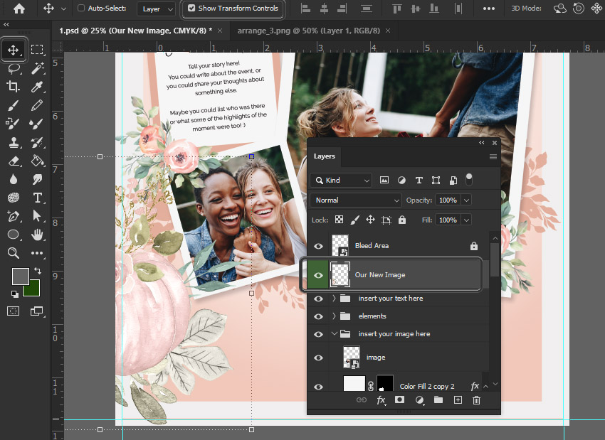 paste image into photoshop document