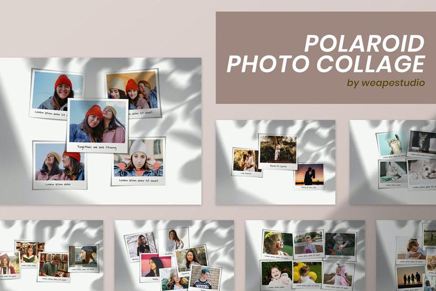 digital scrapbook templates frames polaroid