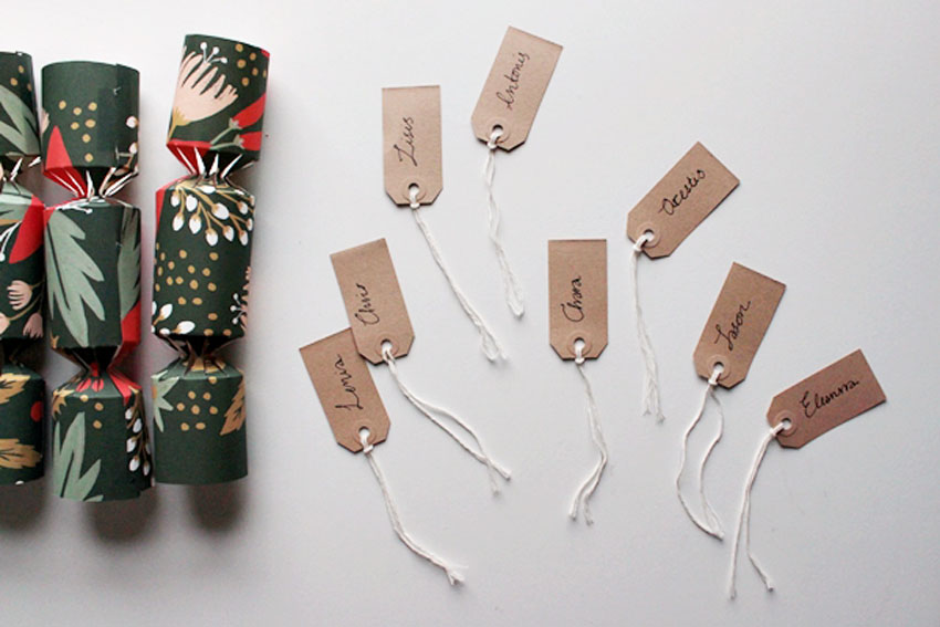 name tags paper cracker template