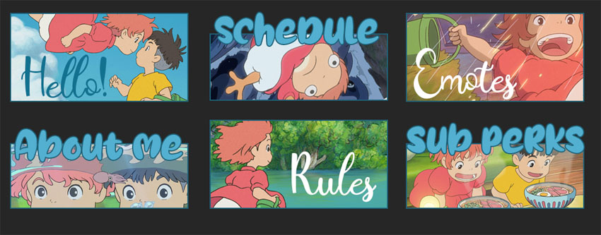 Cute Anime Twitch Panels