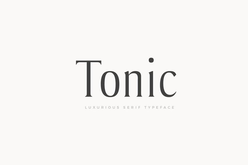 Tonic - Luxurious Serif Typeface