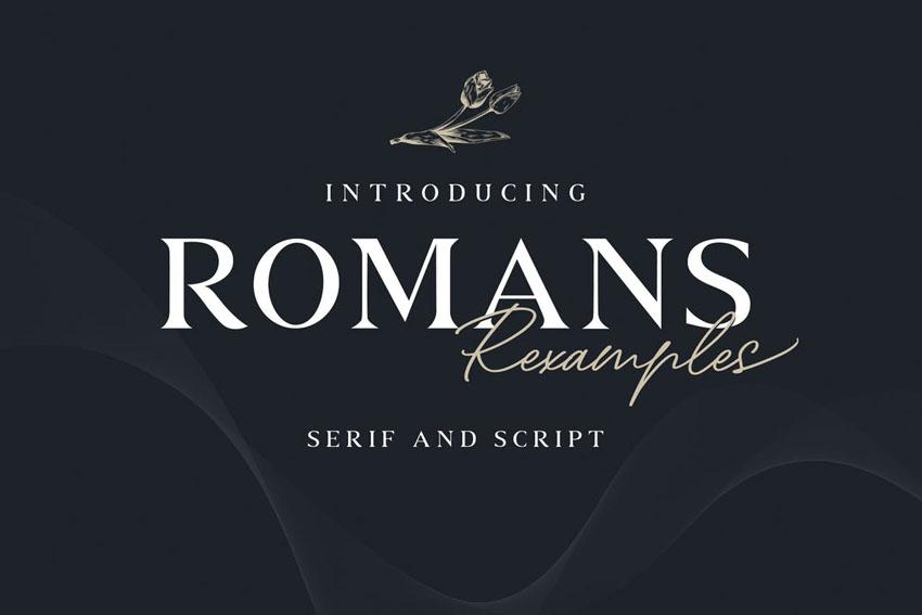 Romans Rexamples Font Duo