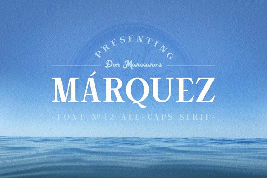 Marquez Vintage Serif Typeface