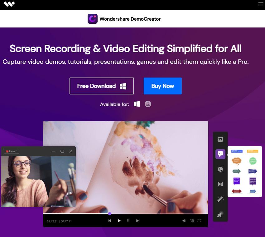 Wondershare DemoCreator Software