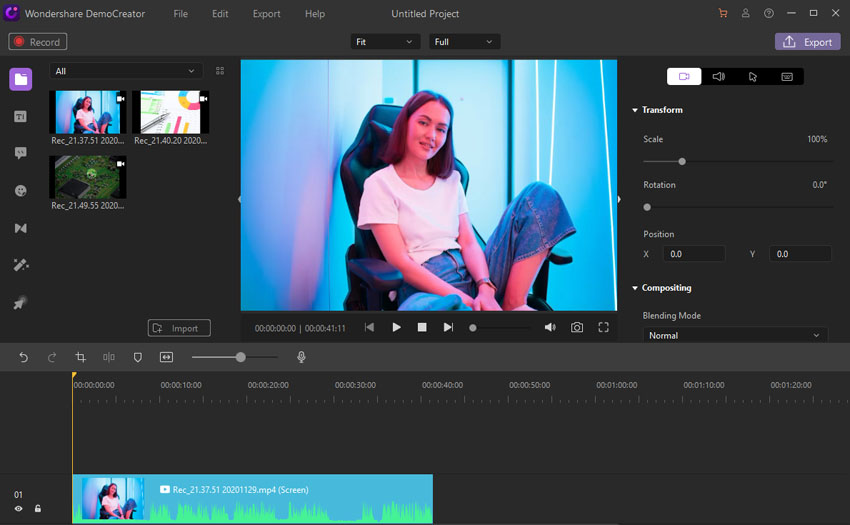 Video Editor Wondershare DemoCreator