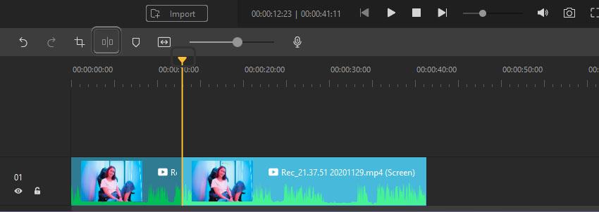 Split Footage Wondershare DemoCreator