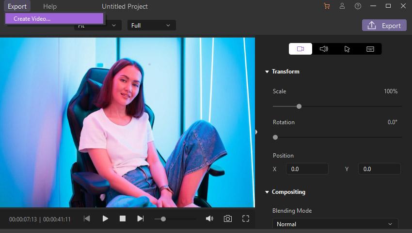 Export Footage Wondershare DemoCreator