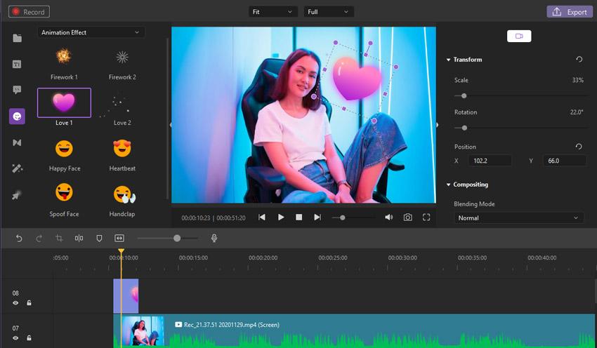 Video Stickers Wondershare DemoCreator