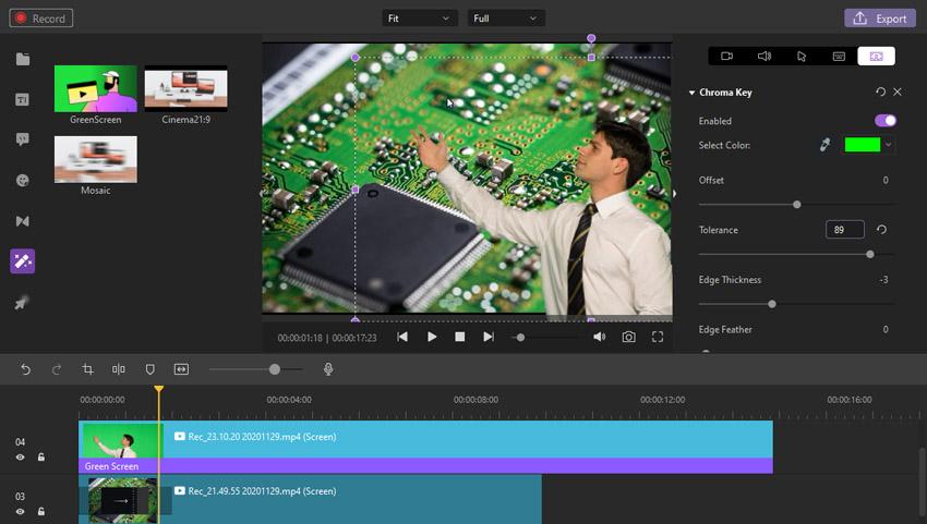 Green Screen Wondershare DemoCreator