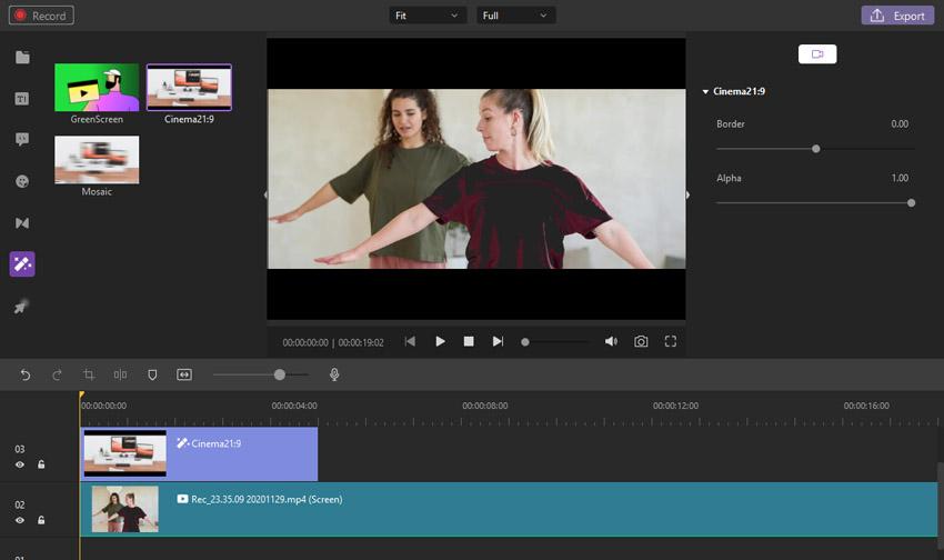 Cinema Mode Wondershare DemoCreator