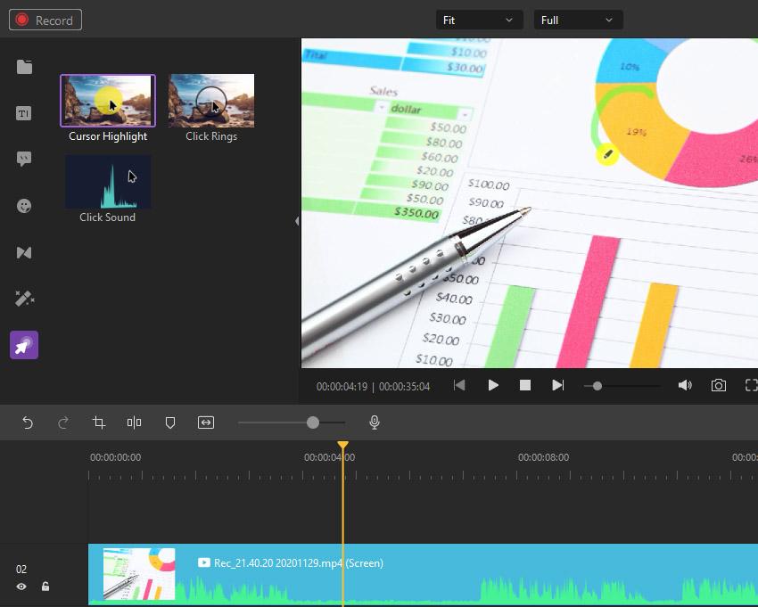 Cursor Video Effects Wondershare DemoCreator