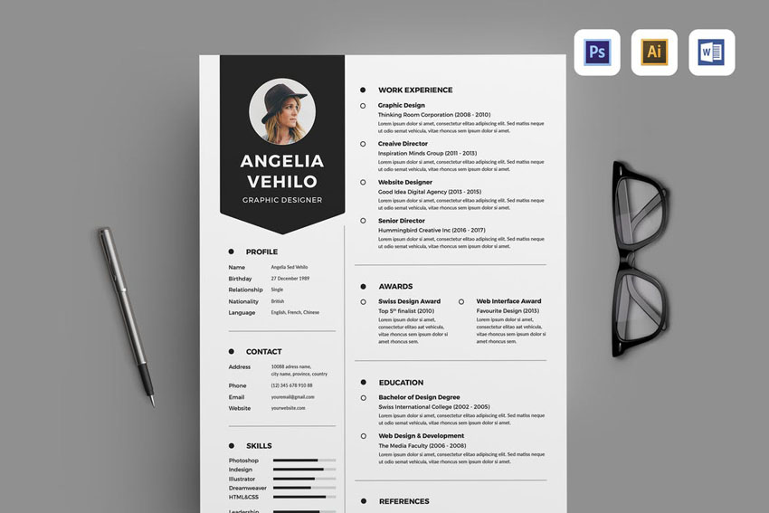 illustrator resume